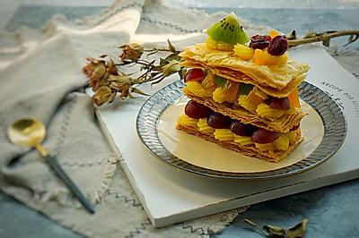 拿破仑千层水果酥#樱花味道#