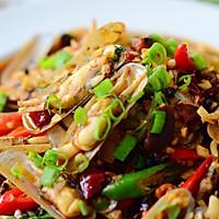鲜味辣炒蛏子-下酒菜#单挑夏天#的做法图解24
