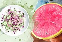 红心萝卜黄瓜沙拉的做法