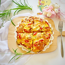 #晒出你的团圆大餐#田园风披萨