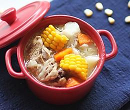 玉米山药胡萝卜大骨汤的做法