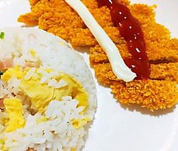 #丘比三明治#丘比沙拉酱香脆美艳~炸猪排套饭的做法