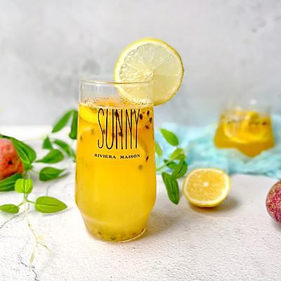 柠檬百香果雪碧水