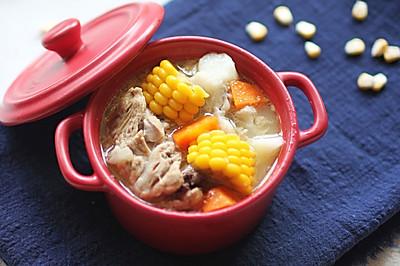 玉米山药胡萝卜大骨汤