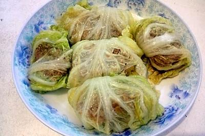 白菜叶裹肉
