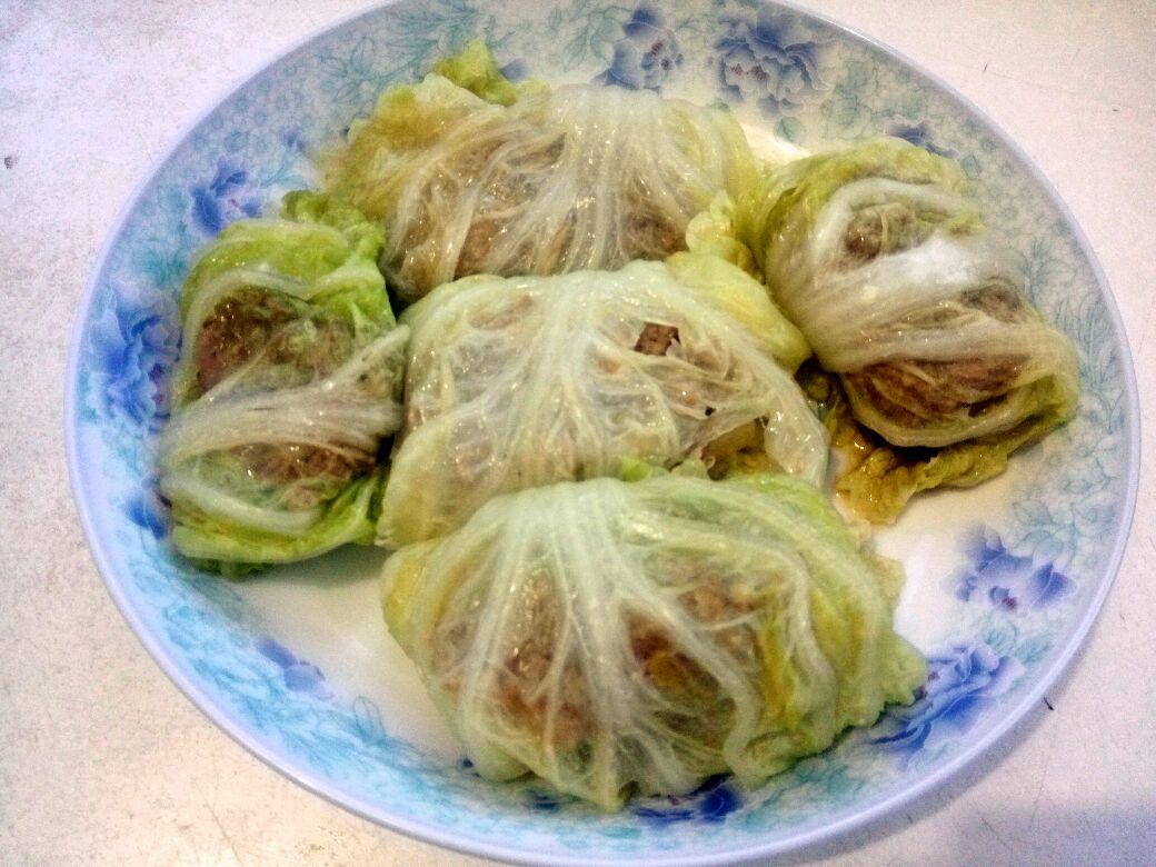 白菜蒸肉沫