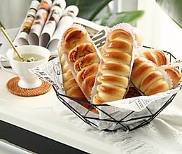 松软带拉丝的一发毛毛虫肉松卷,快手咸味面包!早餐轻松安排!的做法