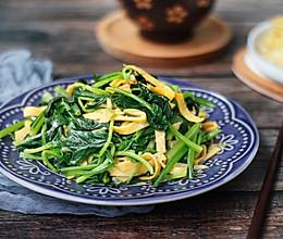 #花10分钟,做一道菜!#菠菜拌蛋丝的做法