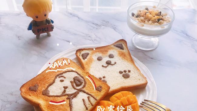 精致早餐之可可爱爱史努比吐司的做法