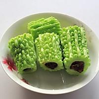 炎炎夏季巧吃苦-----红枣酿苦瓜的做法图解7