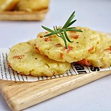 #安佳马苏里拉芝士挑战赛#培根芝士土豆饼