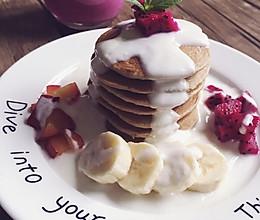 无油无面粉版pancake的做法