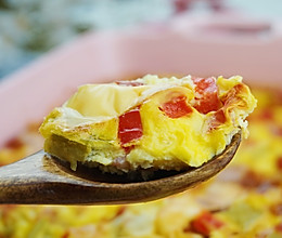#美食视频挑战赛#烤箱蔬菜鸡蛋羹,婆婆爱吃到停不下来!的做法