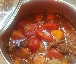 家庭版西红柿焖牛腩(茄汁牛腩)的做法