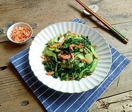 小白菜炒虾米#炎夏消暑就吃「它」#的做法
