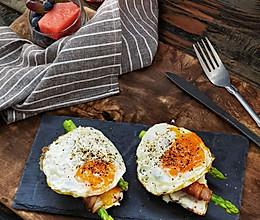 #饕餮美味视觉盛宴#10分钟快手早餐之芦笋脆夫人的做法
