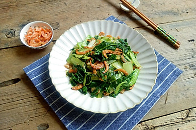 小白菜炒虾米