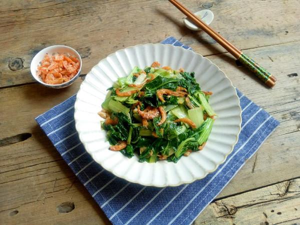 小白菜炒虾米的做法