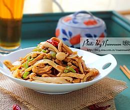 蚝油海鲜菇炒鸡丝的做法