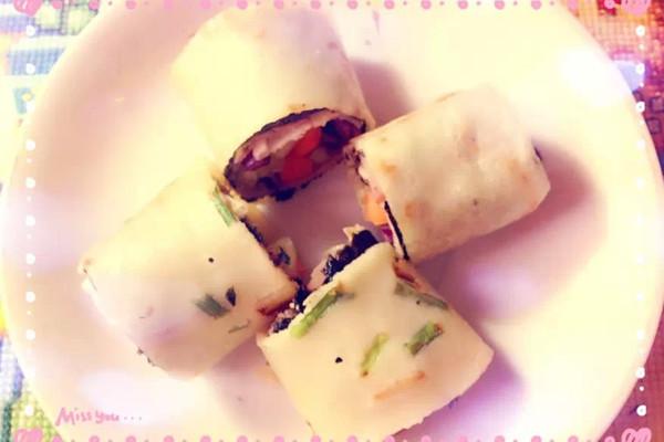 简易美味蔬菜卷饼的做法