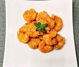 私房菜~蛋黄焗虾仁的做法