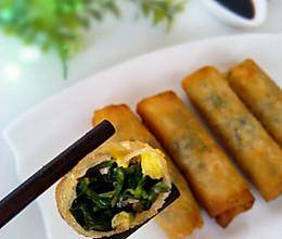 卷起来的美味の荠菜春卷的做法