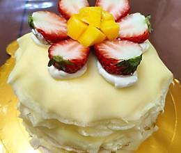 草莓芒果千层蛋糕的做法