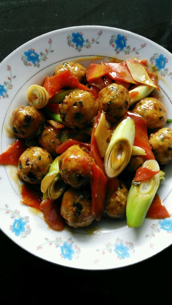 烧素菜丸子的做法