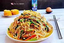 韭菜粉条炒豆芽的做法