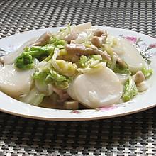 白菜肉丝炒年糕#急速早餐#