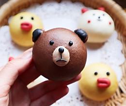 #憋在家里吃什么#布朗熊莎莉鸡和可妮兔❗️可爱奶香小馒头的做法