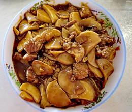 家常菜杏鲍菇炒肉的做法
