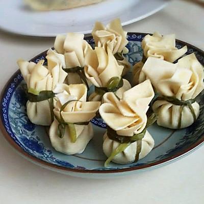 豆腐皮包子。