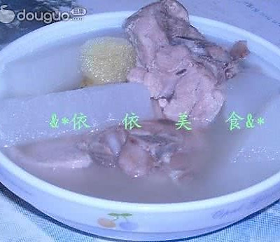 白萝卜骨头汤