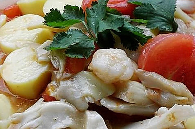 白灵菇烧番茄豆腐