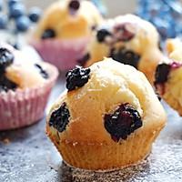 植物油蓝莓马芬#樱花味道#的做法图解10