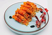 必吃的烧烤金针菇培根卷的做法