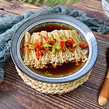 10分钟低脂快手菜,蒜蓉辣椒蒸金针菇