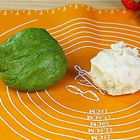 抹茶蛋黄酥的做法的做法图解5