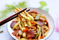 鲜嫩的花生芽炒腊肉#春天肉菜这样吃#的做法