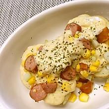 不用烤箱:微波炉焗土豆/3分钟马苏里拉马铃薯