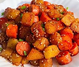 ㊙️巨好吃的孜然火腿土豆丁❗️香辣过瘾的做法