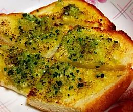 蒜蓉香葱烤面包片的做法