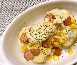 不用烤箱:微波炉焗土豆/3分钟马苏里拉马铃薯的做法