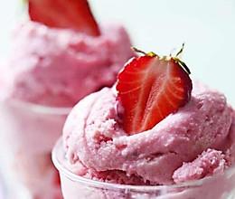 自制草莓冰激凌的做法