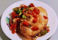 辣椒炒荷包蛋的做法