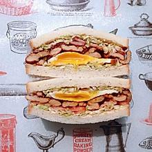 日式鸡胸肉蛋三明治