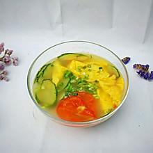 #精品菜谱挑战赛#番茄黄瓜鸡蛋汤
