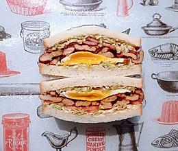 日式鸡胸肉蛋三明治的做法