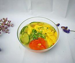 #精品菜谱挑战赛#番茄黄瓜鸡蛋汤的做法